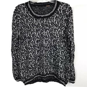 Free People Sweater Marbled Print Pullover